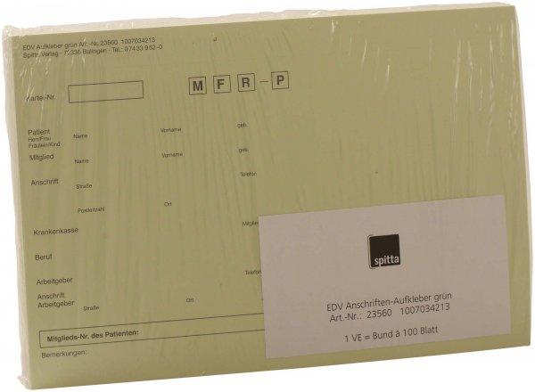 Adressaufkleber DIN A5 - Packung 100 Aufkleber grün von Spitta Verlag
