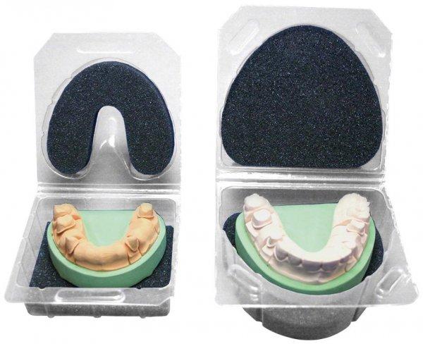 Klarsichtverpackung - Set 3 Klarsichtverpackungen, 3 Schaumstoffeinlagen Größe 2, ... von SILADENT