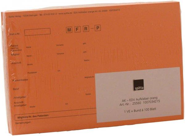 Adressaufkleber DIN A5 - Packung 100 Aufkleber orange von Spitta Verlag