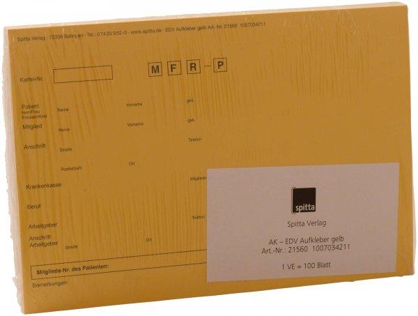 Adressaufkleber DIN A5 - Packung 100 Aufkleber gelb von Spitta Verlag