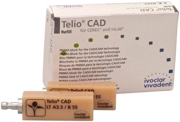 Telio® CAD - Packung 3 Stück Gr. B55, A3,5 LT von Ivoclar Vivadent