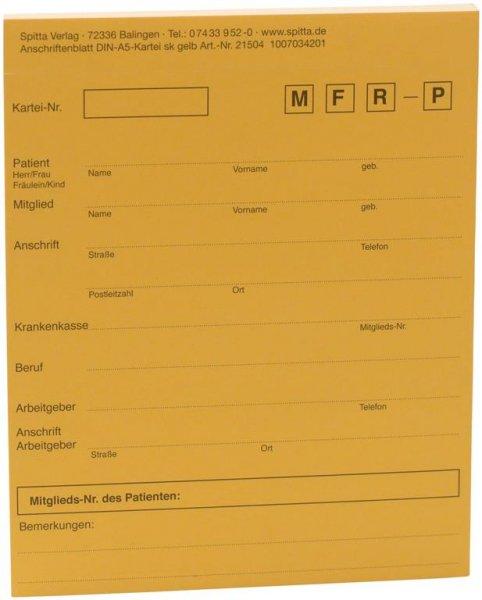 Adressaufkleber DIN A5 - Block 50 Aufkleber gelb von Spitta Verlag