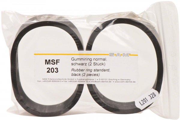 Artikulator Zubehör & Verbrauchsmaterialien - Packung 2 Gummiringe schwarz, normal von SAM