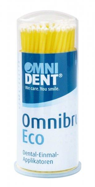 Omnibrush Eco - Packung 100 Stück gelb von OMNIDENT