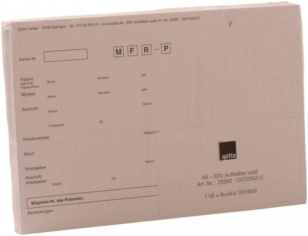 Adressaufkleber DIN A5 - Packung 100 Aufkleber weiß von Spitta Verlag